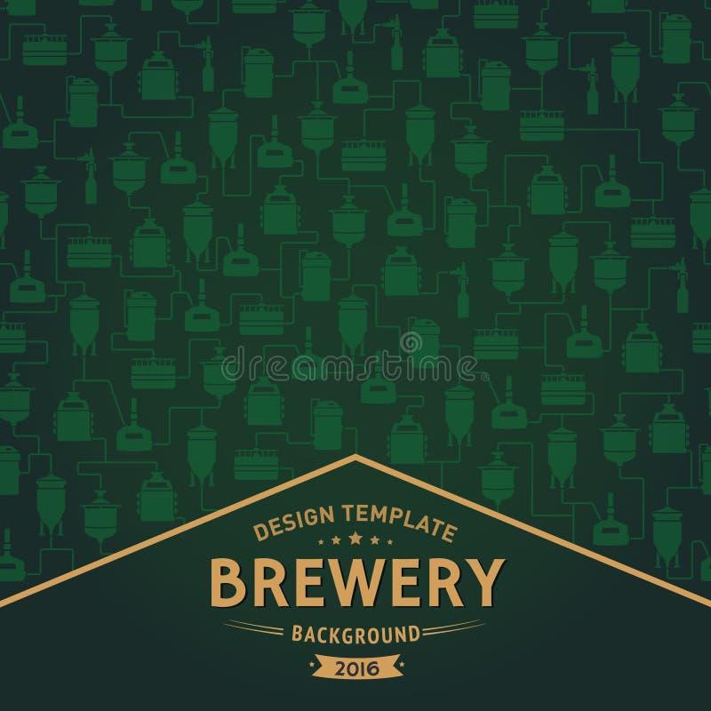 Шаблон карточки с элементом винзавода пива вектор иллюстрация вектора