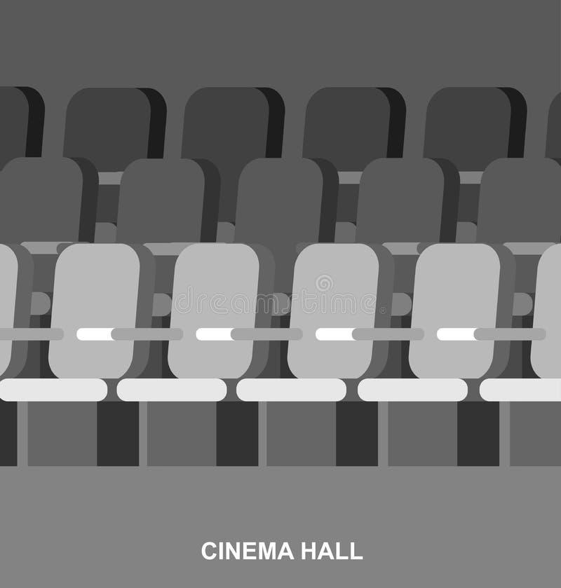 Шаблон киноафиши кино иллюстрация штока