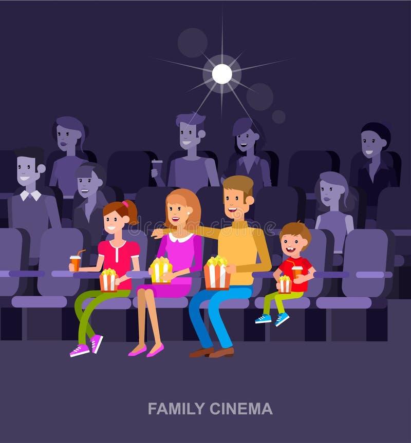 Шаблон киноафиши кино бесплатная иллюстрация