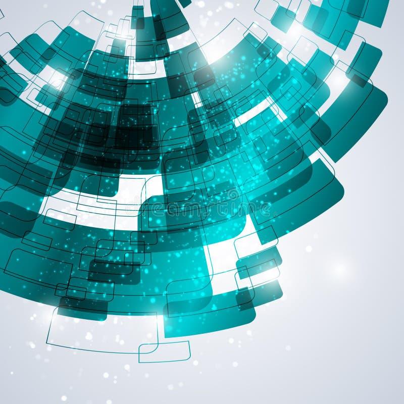 Шаблон конспекта Techno иллюстрация вектора