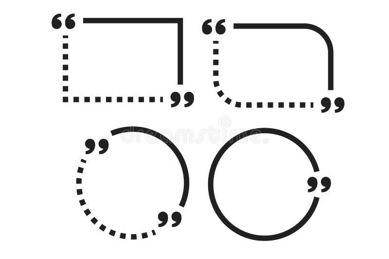 Шаблон коробки цитаты мотивировки с ходом плана Пузырь цитаты Пустой шаблон Бумажный лист, информация, текст бесплатная иллюстрация