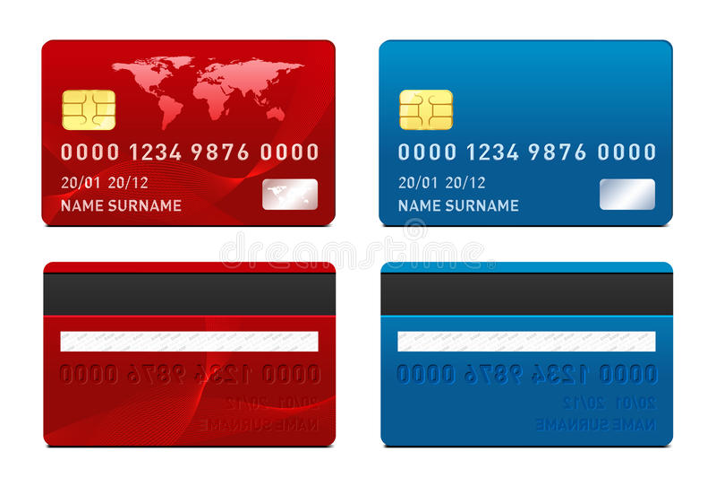 Шаблон кредитной карточки вектора иллюстрация штока