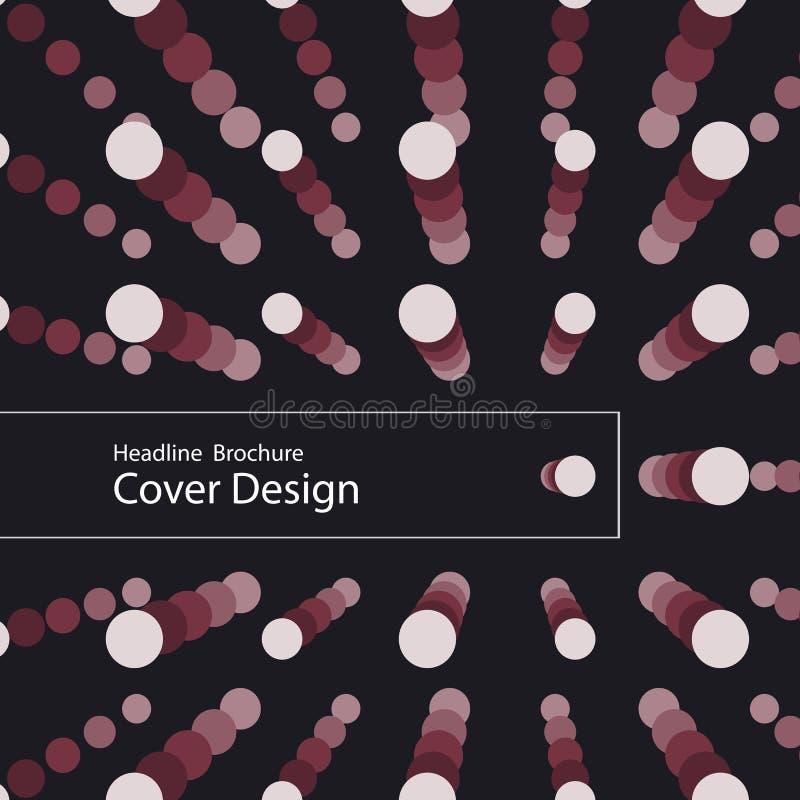 Шаблон круга современного дизайна вектора иллюстрация штока