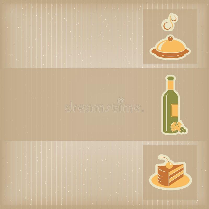 Шаблон меню еды иллюстрация вектора