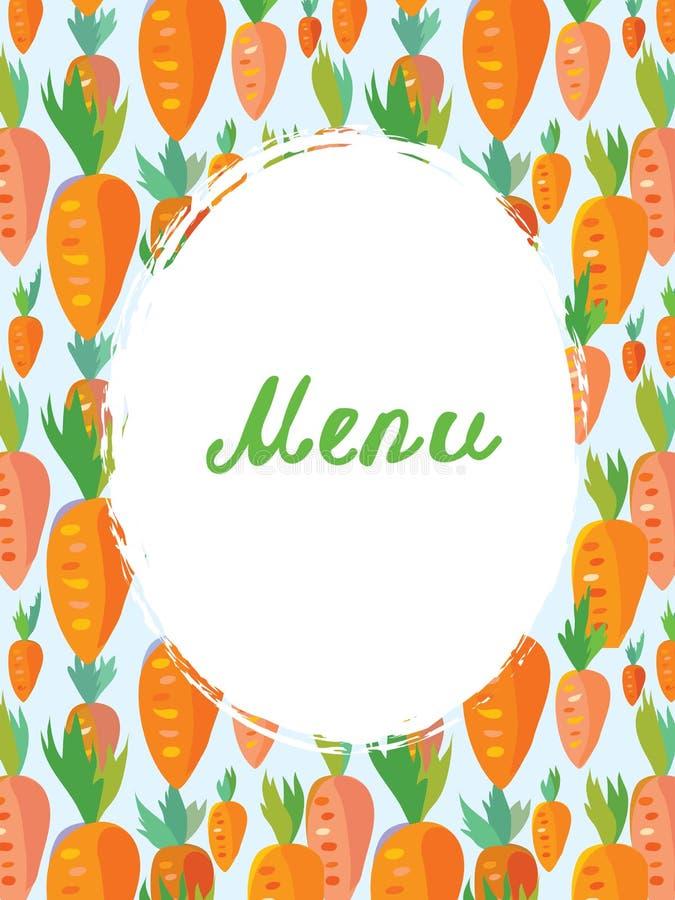 Шаблон меню для вегетарианского кафа бесплатная иллюстрация