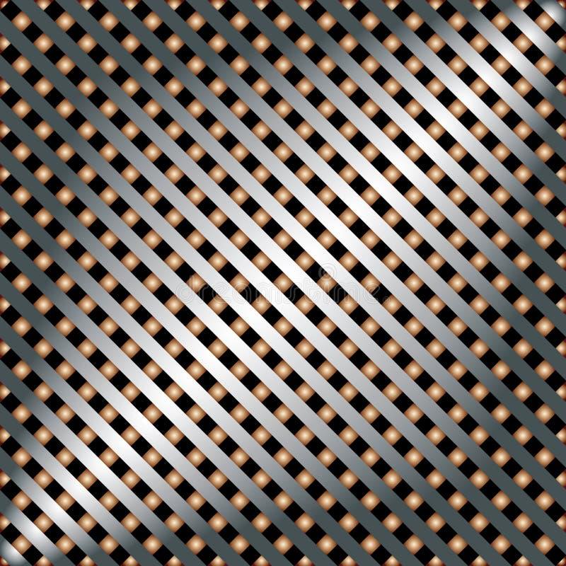 Шаблон металла с текстурой. иллюстрация штока