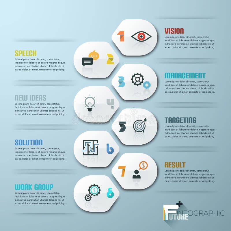 Шаблон минимального стиля современного дизайна infographic с номерами иллюстрация штока