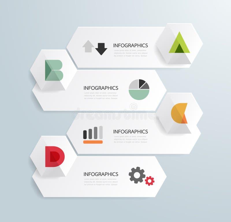 Шаблон минимального стиля современного дизайна infographic иллюстрация штока