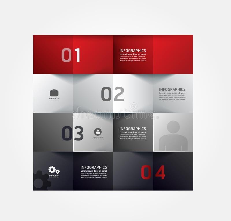 Шаблон минимального стиля современного дизайна infographic бесплатная иллюстрация