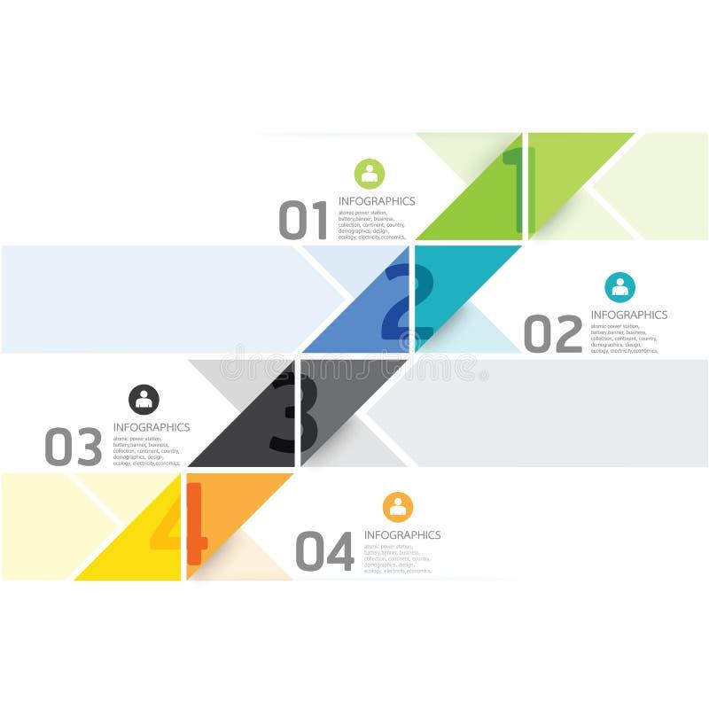 Шаблон минимального стиля современного дизайна infographic иллюстрация вектора