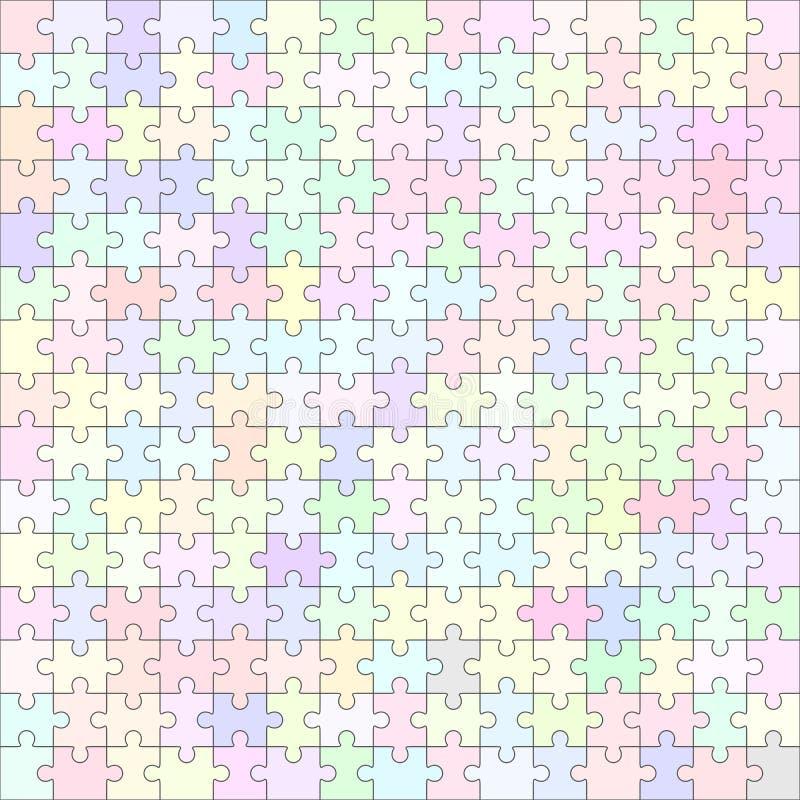 Шаблон мозаики пустой 225 частей иллюстрация вектора