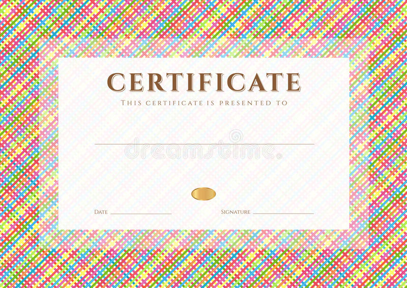 Шаблон награды сертификата диплома Картина Иллюстрация вектора   Шаблон награды сертификата диплома Картина Иллюстрация вектора иллюстрации 34837611