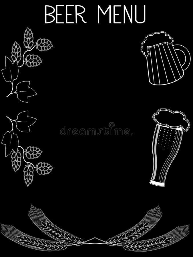 Шаблон нарисованный рукой пива меню 2 бесплатная иллюстрация