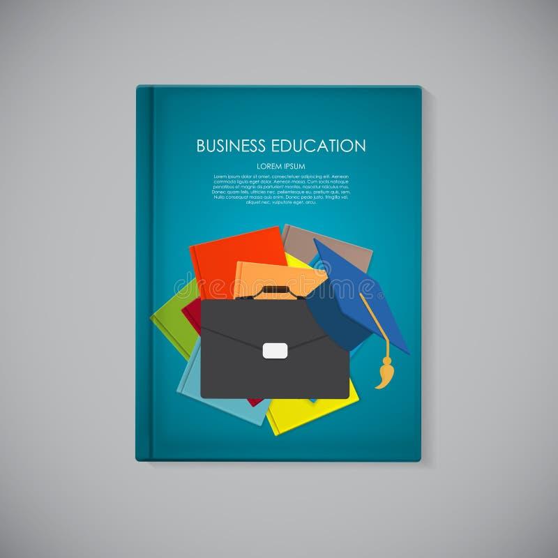 Шаблон обложки книги с концепцией коммерческого образования Тенденции и бесплатная иллюстрация