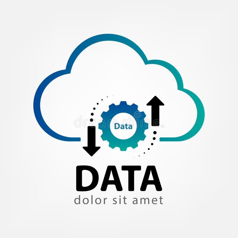 Шаблон логотипа данным по облака творческий стоковая фотография