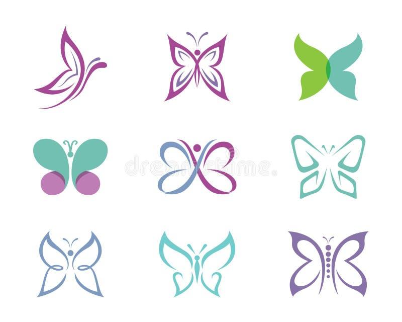 Шаблон логотипа бабочки иллюстрация штока