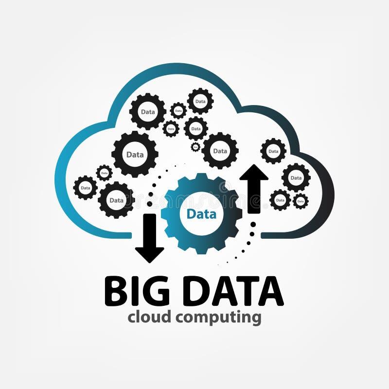 Шаблон логотипа большим данным по облака творческий стоковые фотографии rf