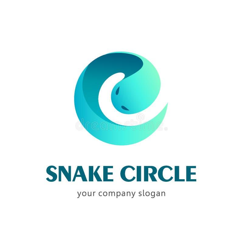 Шаблон логотипа вектора змейки иллюстрация вектора