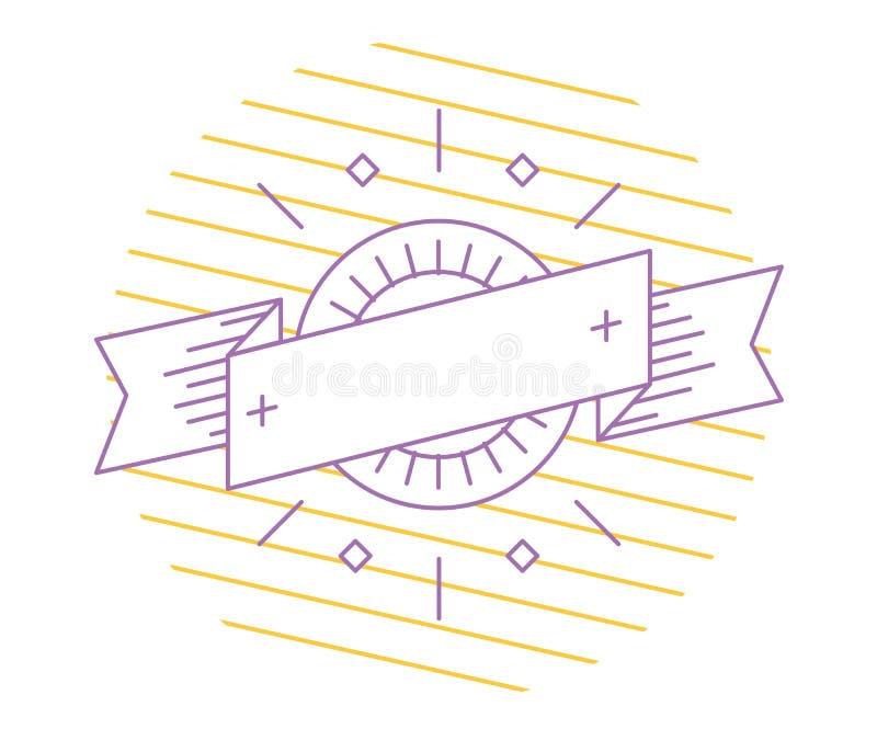 Шаблон логотипа вектора линейный Абстрактная форма стрелки иллюстрация вектора