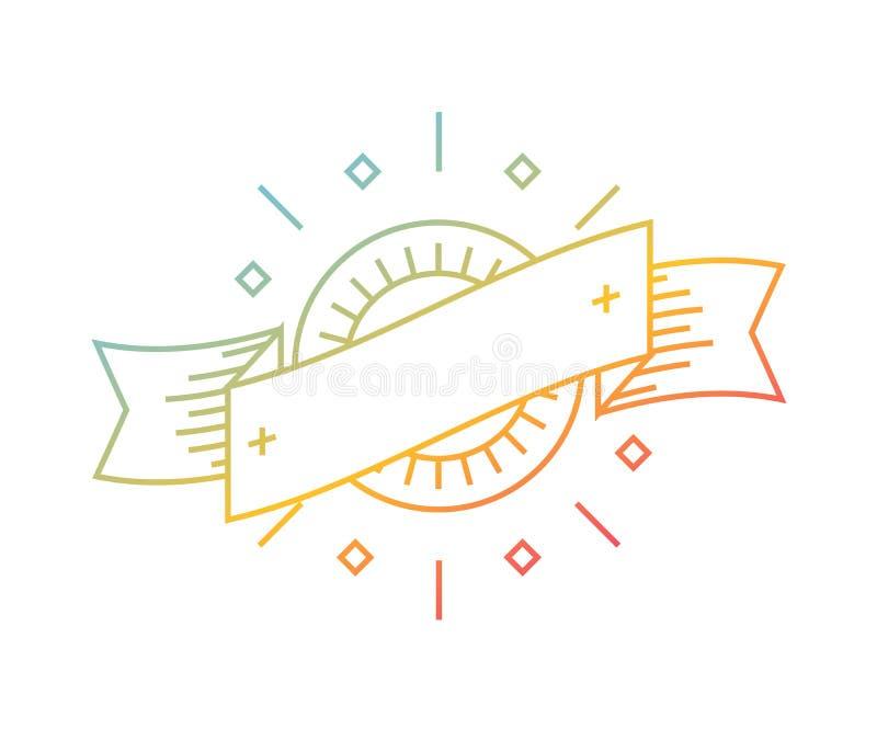 Шаблон логотипа вектора линейный Абстрактная форма стрелки иллюстрация штока