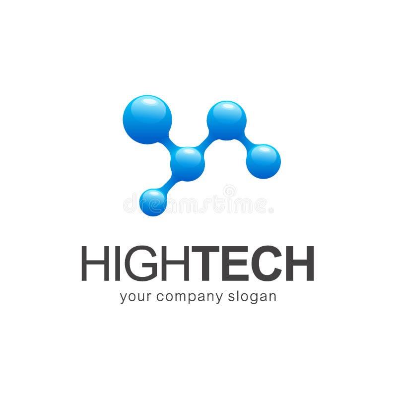 Шаблон логотипа вектора школы иконы образования технология высокой установленная Nano технология бесплатная иллюстрация