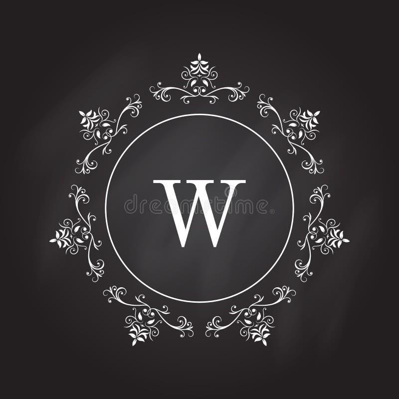 Шаблон логотипа вензеля Дизайн идентичности для магазина, ресторана, салона красоты, бутика или гостиницы иллюстрация штока