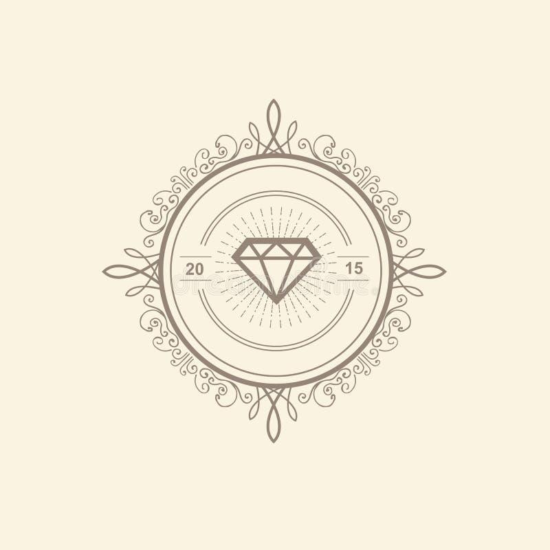 Шаблон логотипа вензеля роскошный иллюстрация штока