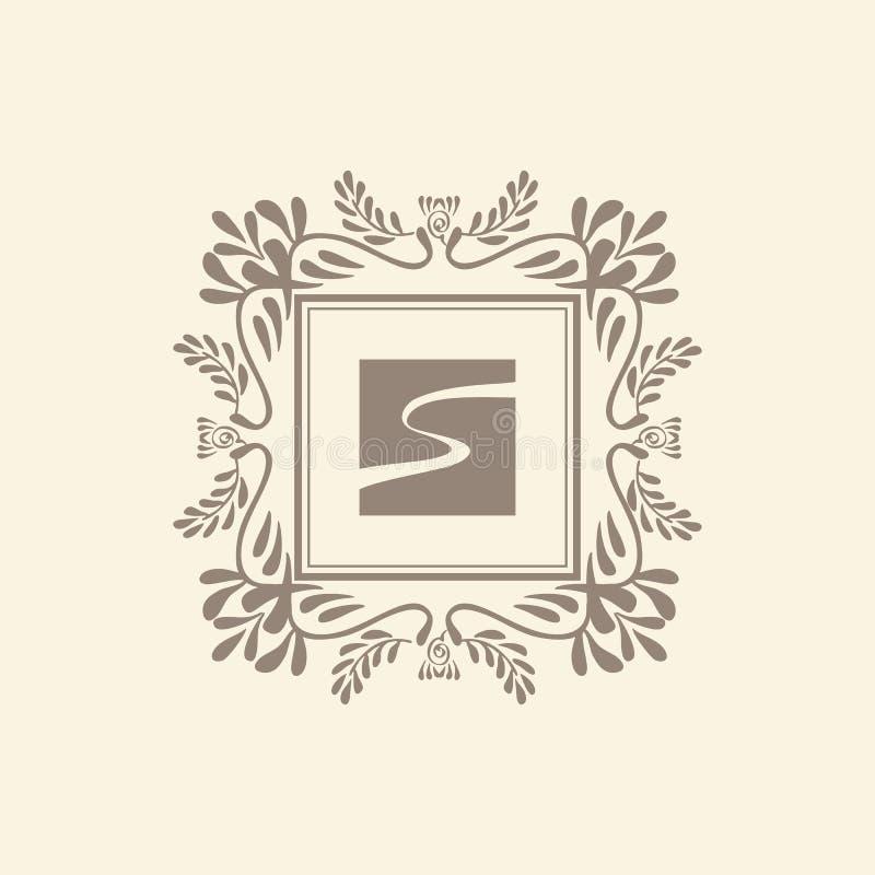 Шаблон логотипа вензеля роскошный бесплатная иллюстрация