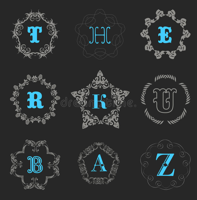 Шаблон логотипа вензеля иллюстрация штока