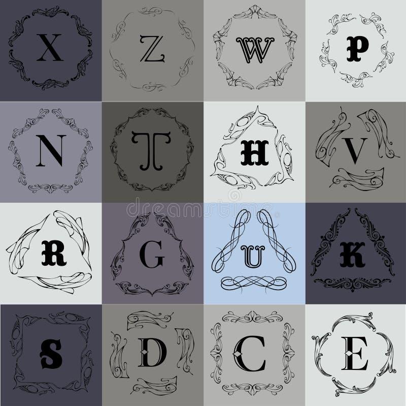 Шаблон логотипа вензеля бесплатная иллюстрация