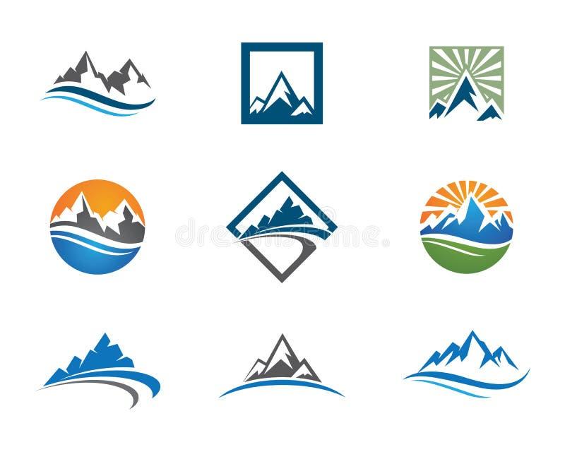Шаблон логотипа гор бесплатная иллюстрация
