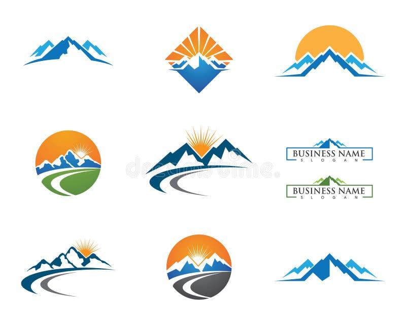 Шаблон логотипа гор иллюстрация вектора