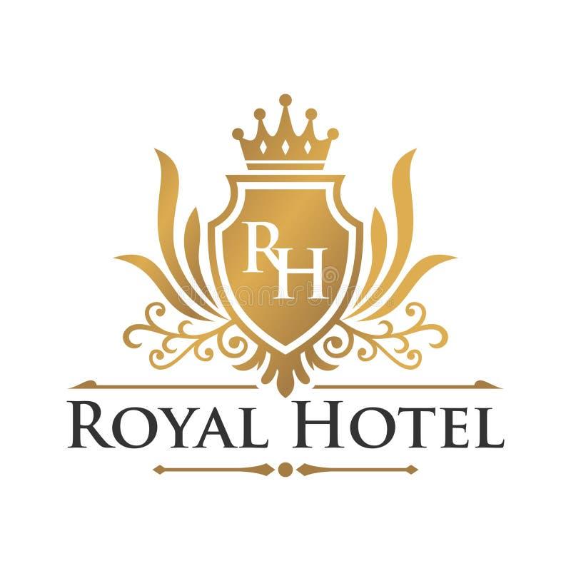 Шаблон логотипа гостиницы иллюстрация вектора