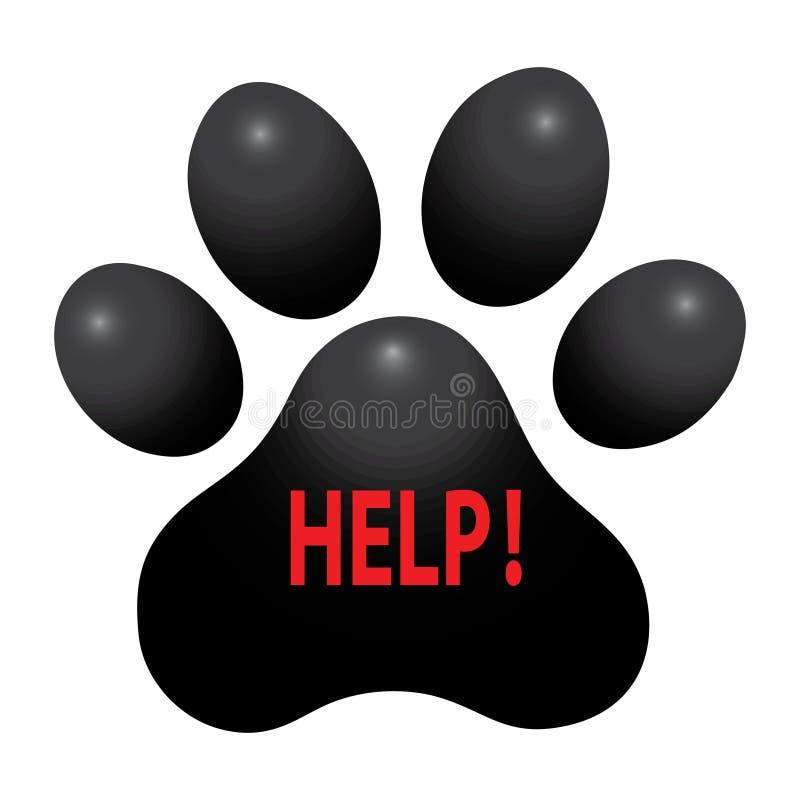 Шаблон логотипа заботы лапки домашнего животного, концепция иллюстрации вектора для животных обслуживаний предприятий иллюстрация штока