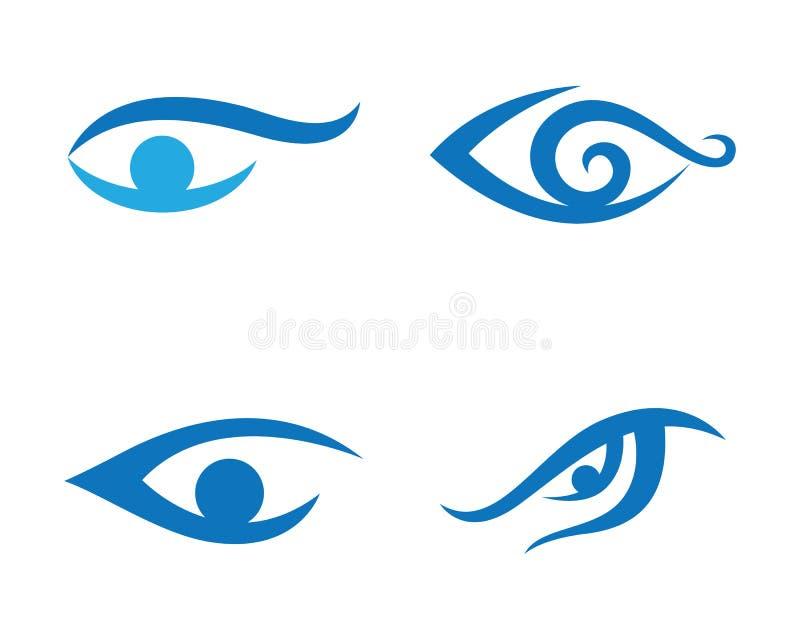 Шаблон логотипа заботы глаза бесплатная иллюстрация