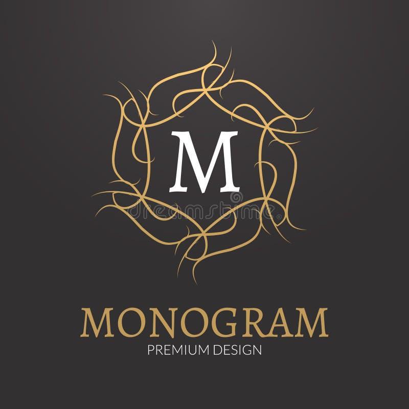 Шаблон логотипа дизайна вензеля вектора стильный элегантный иллюстрация вектора