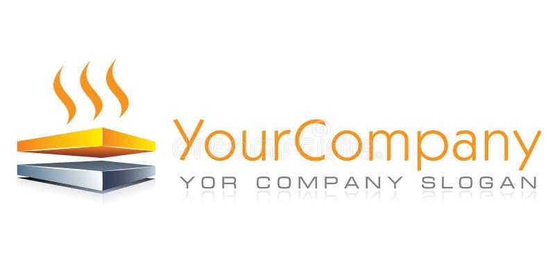 Шаблон логотипа, конструкция, отопление под полом иллюстрация штока