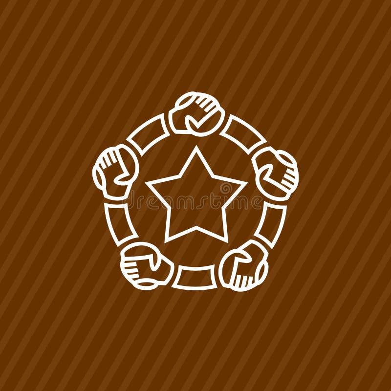 Шаблон логотипа общины с руками бесплатная иллюстрация