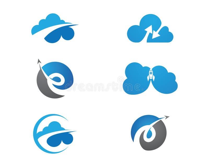 Шаблон логотипа облака иллюстрация штока