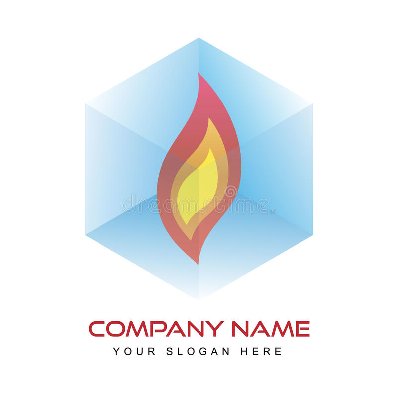 Шаблон логотипа - огонь бесплатная иллюстрация