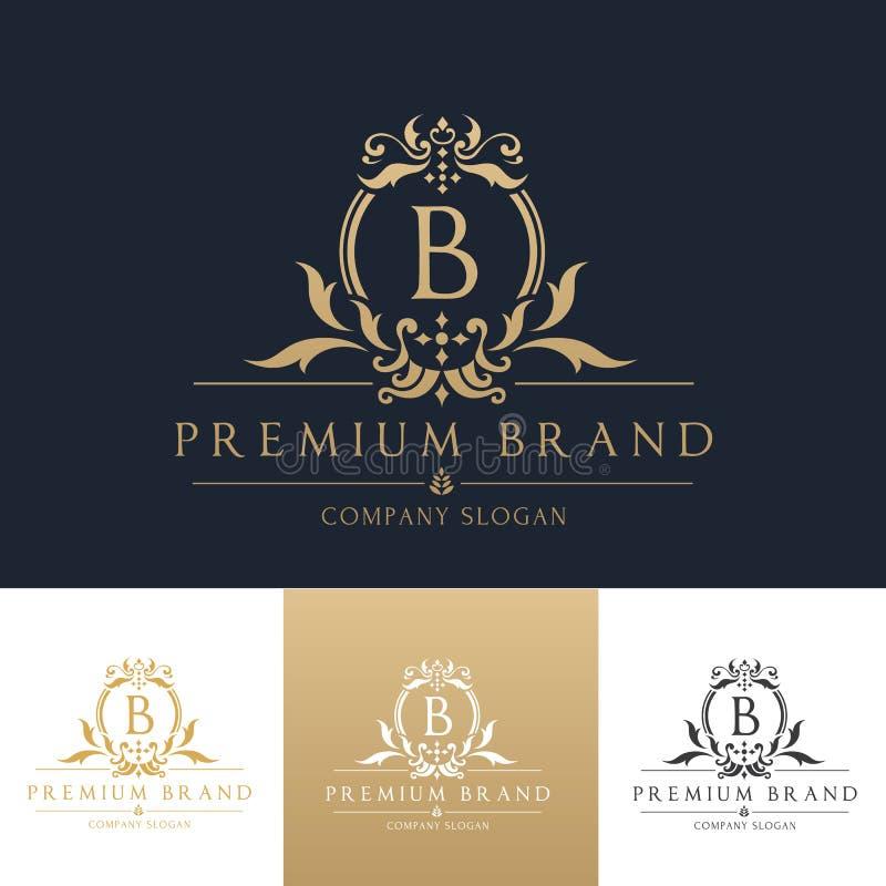 Шаблон логотипа премиум-бренда стоковое фото rf