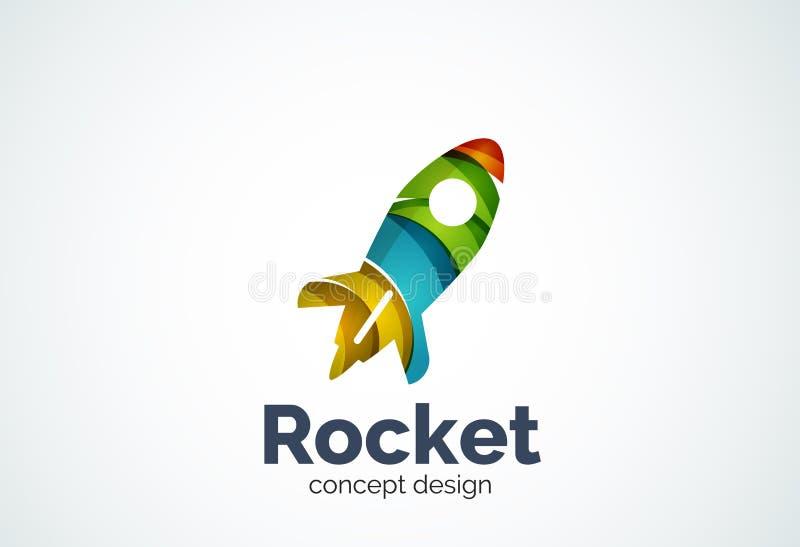 Шаблон логотипа Ракеты бесплатная иллюстрация