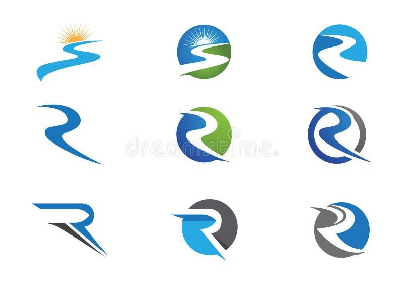 Шаблон логотипа реки иллюстрация штока