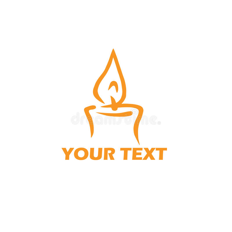 Шаблон логотипа свечи Стилизованный дизайн иллюстрации вектора иллюстрация вектора