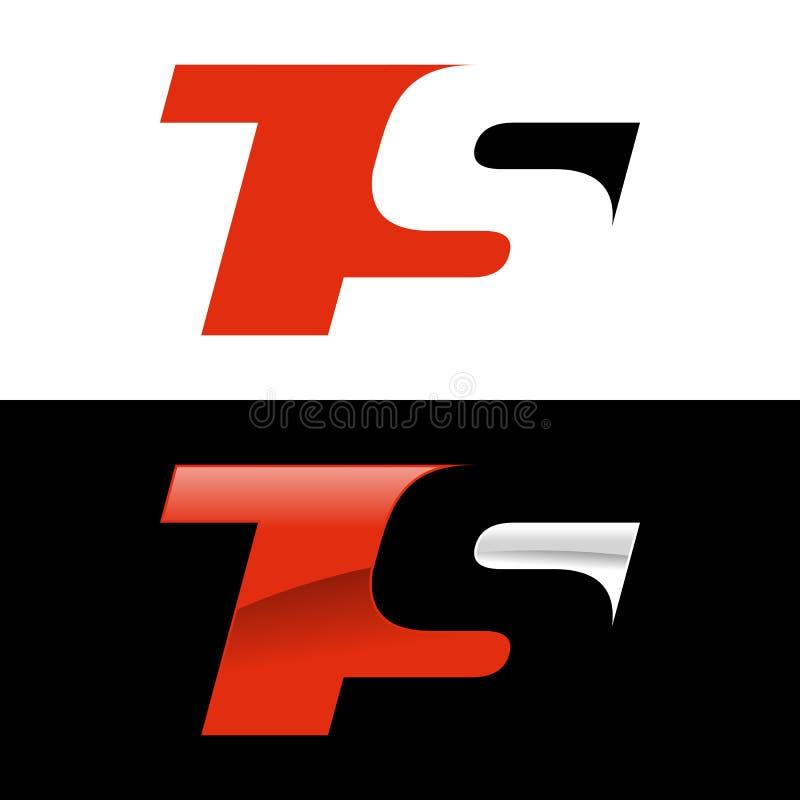 Шаблон логотипа спорта инициалов TS современный стоковая фотография