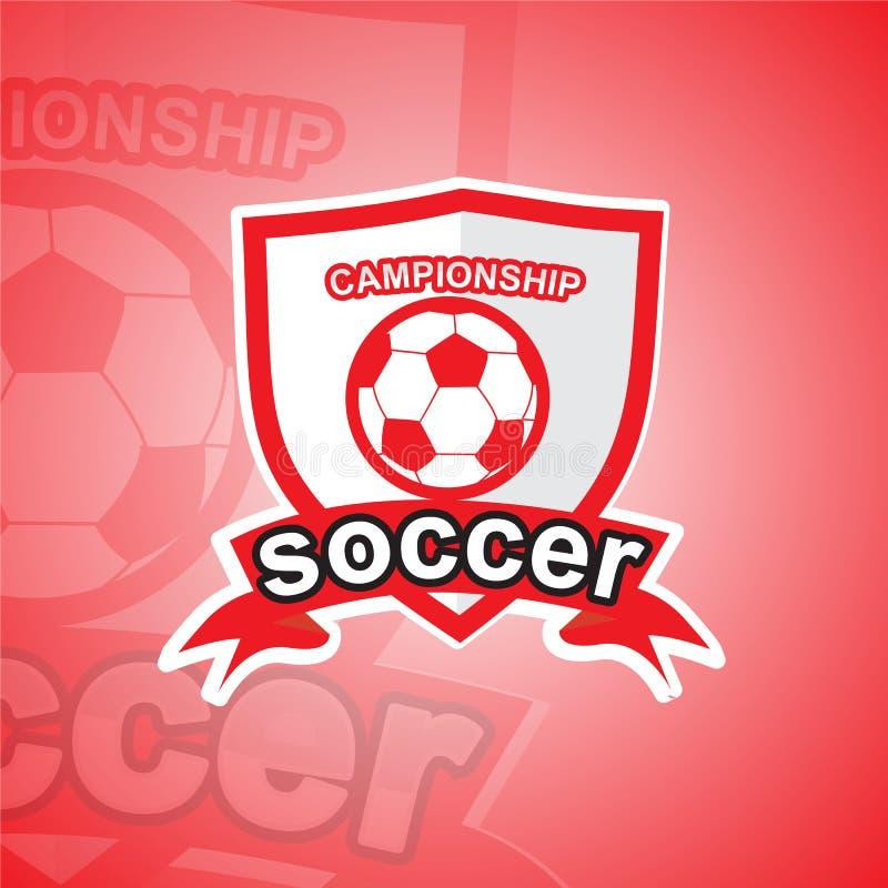 Шаблон логотипа футбола стоковые изображения rf