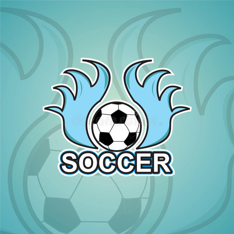Шаблон логотипа футбола стоковая фотография rf
