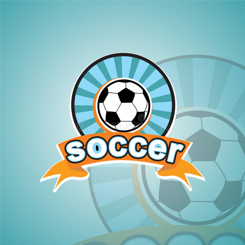 Шаблон логотипа футбола стоковое изображение rf