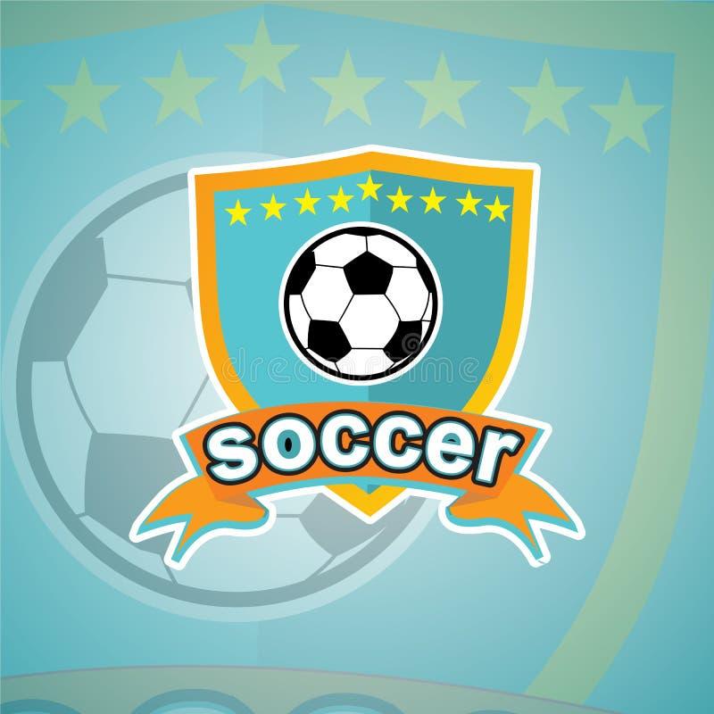 Шаблон логотипа футбола стоковое фото rf