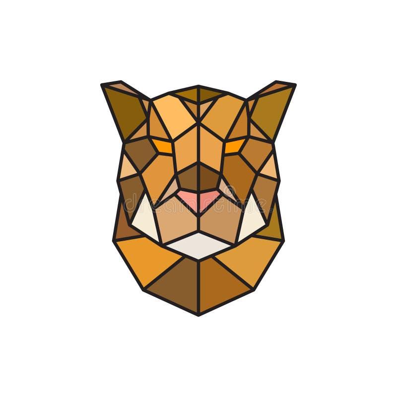 Шаблон логотипа ягуара головной для дела иллюстрация штока